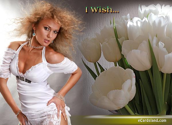 White Tulips eCard