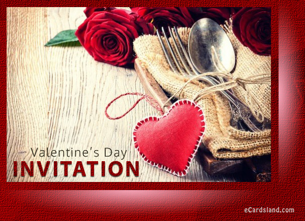 Invitation for Valentine's Day