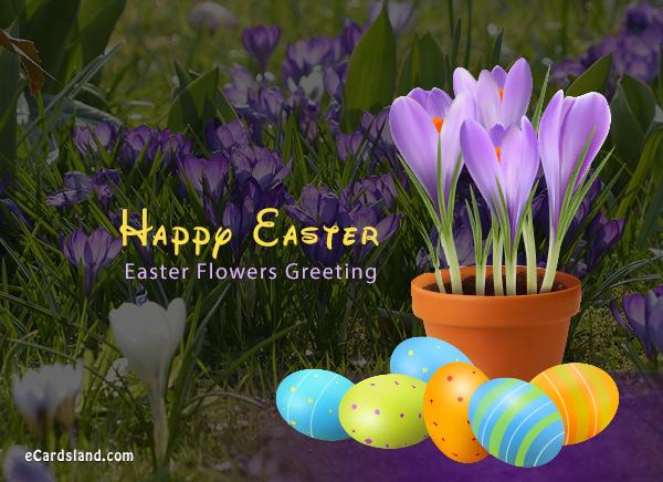 Easter Flowers Greeting
