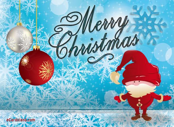 Santa Claus loves Christmas