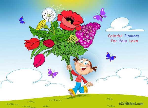 Colorful Flowers For Your Love