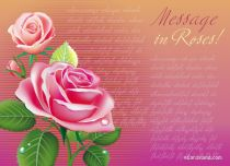 eCards Flowers Message in Roses, Message in Roses
