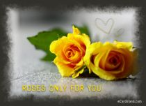 eCards  Roses Only for You,