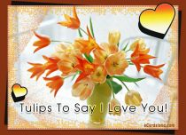 eCards  Tulips To Say I Love You,