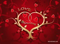 eCards Valentine's Day  Love Blooms, Love Blooms