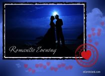 eCards Valentine's Day  Romantic Evening, Romantic Evening