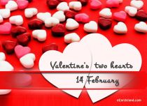 eCards Valentine's Day  Valentine's Two Hearts, Valentine's Two Hearts