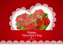 eCards Valentine's Day  Beautiful Roses For Your Love, Beautiful Roses For Your Love