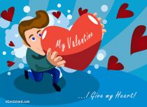 eCards Valentine's Day  I Give my Heart, I Give my Heart