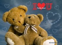 Free eCards, Valentine's Day ecards with music - I Love You Teddy Bear,
