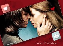 eCards Valentine's Day  I Want Your Kiss, I Want Your Kiss