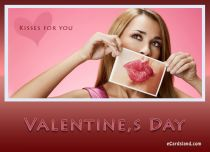Free eCards, Funny Valentine's Day ecards - Kisses on Valentine's Day,