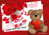 eCards Valentine's Day  Love Gift for You, Love Gift for You