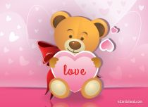 eCards Valentine's Day  Love Teddy Bear, Love Teddy Bear