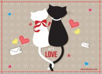 eCards Valentine's Day  With Love, With Love