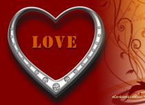 Free eCards - Silver Heart,