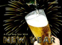 eCards New Year A Cool New Year Wish, A Cool New Year Wish