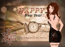 eCards New Year A Year Of Happiness And Success, A Year Of Happiness And Success
