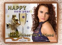 eCards New Year Best Wishes for a Friend, Best Wishes for a Friend
