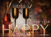 Free eCards New Year - Champagne Greats,
