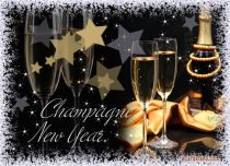eCards  Champagne New Year,