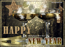 Free eCards - Champagne New Year 2020,