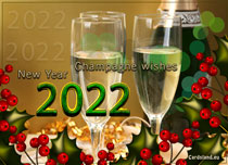 eCards  Champagne Wishes,