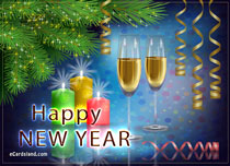 eCards New Year Cheers in the New Year 2020, Cheers in the New Year 2020
