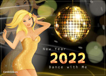 eCards New Year Dance with Me, Dance with Me