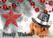 eCards New Year Frosty Wishes, Frosty Wishes
