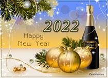 Free eCards - Gold New Year 2019,