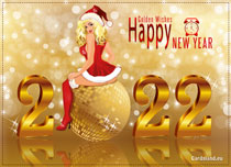Free eCards - Golden Wishes for the New Year 2020,