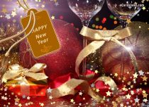 eCards New Year Greeting Card, Greeting Card