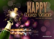 Free eCards, Free e cards - Happy New Year eCard,