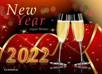 eCards New Year Joyful Wishes, Joyful Wishes