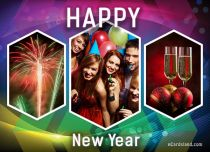 Free eCards New Year - Let's Celebrate New Year,