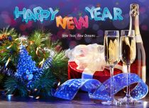Free eCards, Free e cards - New Year New Dreams,