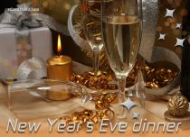 eCards New Year New Year's Eve Dinner, New Year's Eve Dinner