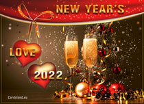 Free eCards, New Year cards free - New Year's Love,