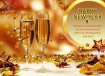 Free eCards - New Year Stars,