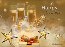 eCards  Sparkling New Year Wishes,