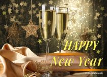 eCards New Year Sparkling Wishes, Sparkling Wishes