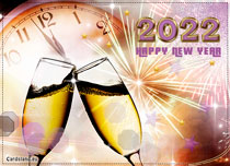 eCards New Year Strikes Midnight, Strikes Midnight