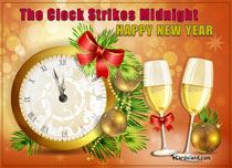 eCards New Year The Clock Strikes Midnigh, The Clock Strikes Midnigh