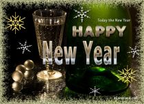 Free eCards - Today the New Year 2020,