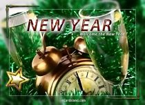 eCards New Year Welcome the New Year, Welcome the New Year