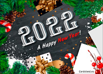 Free eCards, e-Cards with music - A Happy New Year 2020,