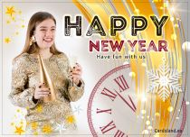 Free eCards, New Year greeting cards - Champagne Fun,