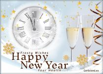 Free eCards, e-Cards with music - Frosty New Year,