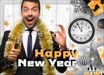 Free eCards, e-Cards with music - Here Comes the New Year,